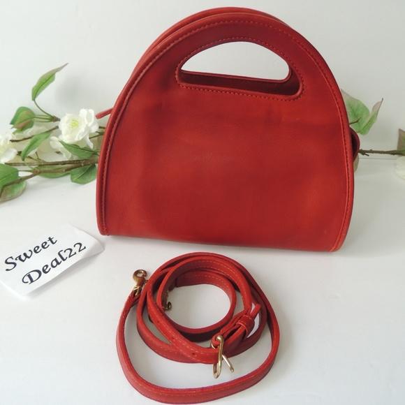 7a5e2921bf Coach Handbags - Vintage Coach Red Carousel Handbag Crossbody